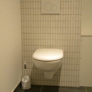 Habillage d'un wc suspendu